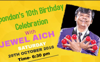 Spondon's 10th birthday celebration with Jewel Aich