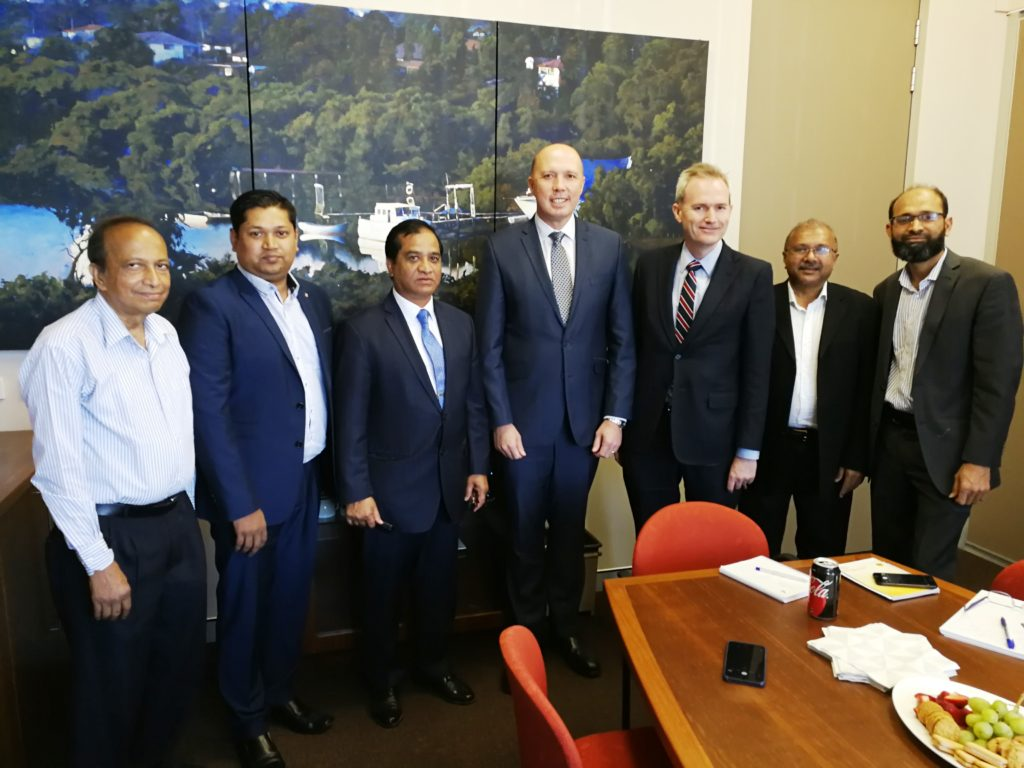 Meeting with Hon Immigration & Border Protection Minister at Federal MP of Banks office on 10 Nov 2017