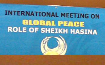 Global Peace : Role of Sheikh Hasina