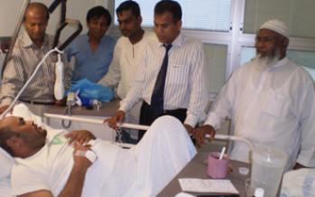 Jashim Chowdhury in Hospital