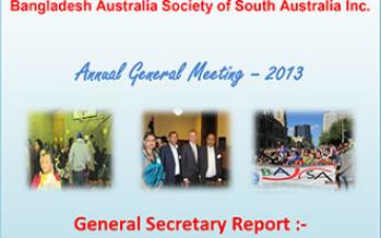Bangladesh Australia Society of South Australia's AGM and Award