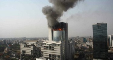 Why has it been difficult to extinguish fire at the Basundhara City Mall ?