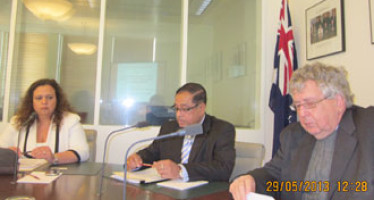 Bangladesh High Commissioner's briefing on ICTBD in the Australian Parliament